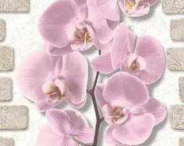 10107-85/12шт/обои Орхидея вспененный винил на бум.осн.0,53*10м/Аспект/к 10108-85