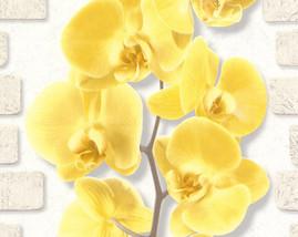 10107-23/12шт/обои Орхидея вспененный винил на бум.осн.0,53*10м/Аспект/к 10108-23