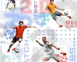 Футбол/12шт/обои 690-01 бумажные дуплекс 0,53*10м/Саратов
