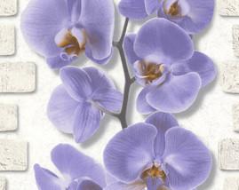 10107-46/12шт/обои Орхидея вспененный винил на бум.осн.0,53*10м/Аспект/к 10108-46